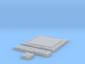 SciFi Tile 18 - Deck Plate in Smooth Fine Detail Plastic