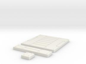 SciFi Tile 21 - Panelled Corridor in White Natural Versatile Plastic