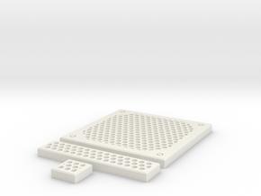 SciFi Tile 24 - Circular Grating in White Natural Versatile Plastic