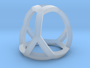 0405 Spherical Truncated Tetrahedron #001 in Smooth Fine Detail Plastic