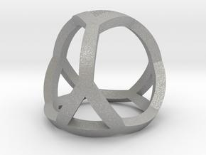 0405 Spherical Truncated Tetrahedron #001 in Aluminum