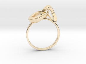 Infinite Ring in 14k Gold Plated Brass
