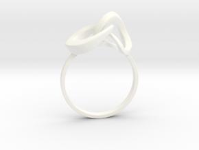 Infinite Ring in White Processed Versatile Plastic