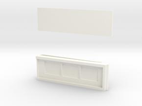 MONEY CLIP MICRO SD HOLDER in White Processed Versatile Plastic
