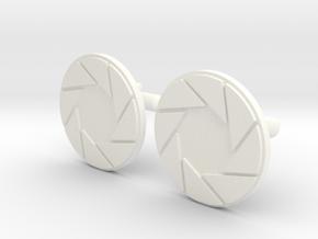 APETURE CUFF LINKS in White Processed Versatile Plastic
