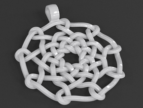 Celtic Knot Pendant 02 in White Processed Versatile Plastic