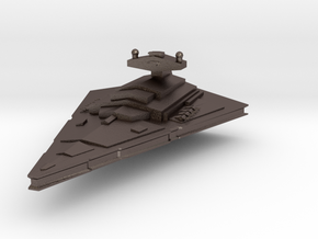 Imperial-I Star Destroyer. in Polished Bronzed Silver Steel