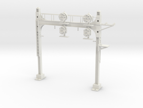 HO Scale PRR W-signal Beam 2 Track in White Strong & Flexible