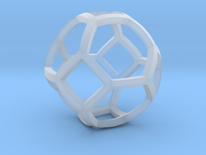 0409 Spherical Truncated Octahedron #001 in Smooth Fine Detail Plastic