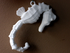Wiggling Seahorse in White Strong & Flexible