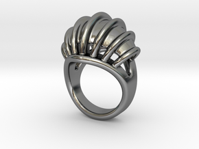 Ring New Way 28 - Italian Size 28 in Fine Detail Polished Silver