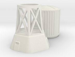 Water Tower in White Natural Versatile Plastic