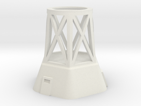 Concrete Tower Base Section in White Natural Versatile Plastic