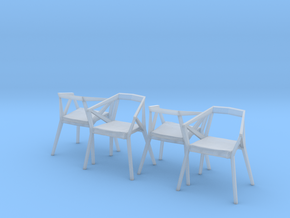 1:24 YY Chair Set in Smooth Fine Detail Plastic