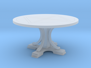 Decorative Round Table in Smooth Fine Detail Plastic: 1:48