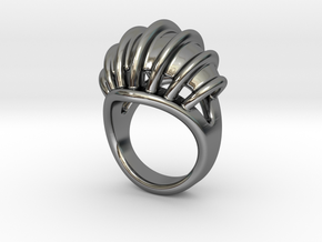 Ring New Way 33 - Italian Size 33 in Fine Detail Polished Silver