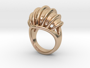 Ring New Way 33 - Italian Size 33 in 14k Rose Gold Plated Brass