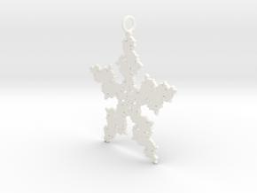 Julia Flake Pendant in White Processed Versatile Plastic