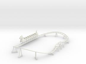 Wisdom Dragon Wagon kiddie coaster track and train in White Natural Versatile Plastic