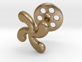 Cross Basque Cufflinks in Polished Gold Steel