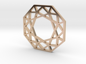 octagon.charm in 14k Rose Gold Plated Brass