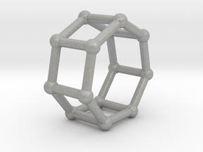 0349 Heptagonal Prism V&E (a=1cm) #002 in Aluminum