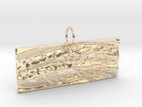 New Beginnings II Keychain/Pendant in 14k Gold Plated Brass