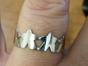 Meeple ring, size 13 1/2 (US) / 71 (ISO) in Rhodium Plated