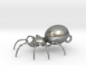 Spider in Natural Silver