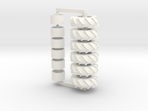 3 Set Of 23.1-32tires in White Processed Versatile Plastic