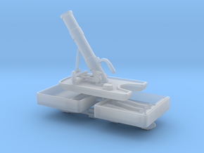 Granatenwerfer 36 - German 5cm Mortar - 1:18 Scale in Smooth Fine Detail Plastic