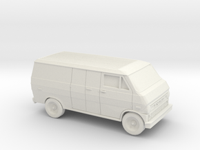 1/87 1972-74 Ford Econoline Delivery Van in White Natural Versatile Plastic