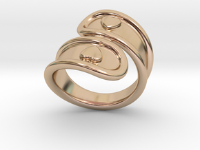 San Valentino Ring 29 - Italian Size 29 in 14k Rose Gold Plated Brass