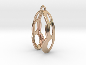 Fine Earring in 14k Rose Gold Plated Brass