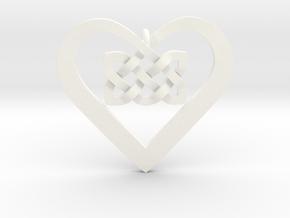 Coduro Celtic Heart in White Processed Versatile Plastic