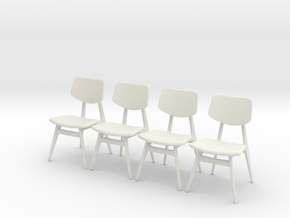 1:24 C 275 Chair Set of 4 in White Natural Versatile Plastic