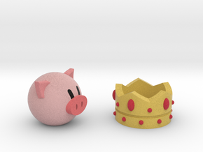 Crown And Pig in Full Color Sandstone
