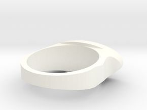 Ring Model 2 18.5mm in White Processed Versatile Plastic
