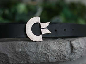 The Commodore Belt Buckle in Polished Bronzed Silver Steel
