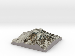 "Mt Rainier Summit Map: 8"" in Full Color Sandstone"