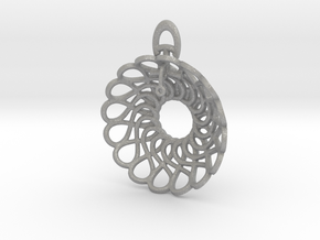 Infinity Heart Pendant in Aluminum