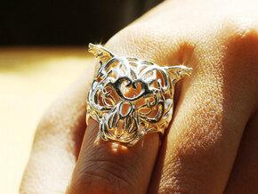 Zodiac Tiger Ring - Silver Tiger Ring, Size 6.5 in Premium Silver