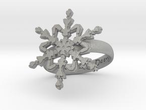Snowflake Ring 2 d=17mm h35d17 in Aluminum