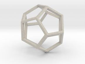 Pentagon Pendant in Natural Sandstone
