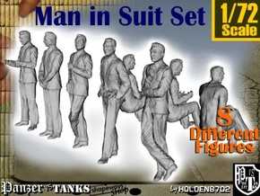 1-72 Man In Suit SET in Smooth Fine Detail Plastic