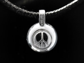 Peace in Rhodium Plated