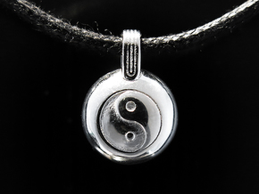 Yin Yang in Rhodium Plated