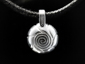 Spiral in Rhodium Plated Brass
