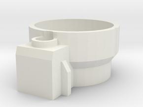 Blaster Shroud Adapt Rear in White Natural Versatile Plastic