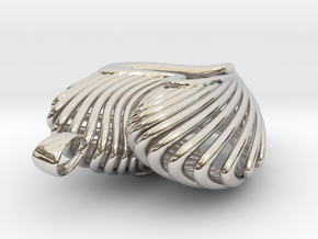 The Open Heart in Rhodium Plated Brass